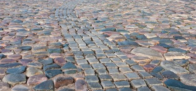 Texture de la chaussée de pierre carreaux pavés briques fond Photo Premium
