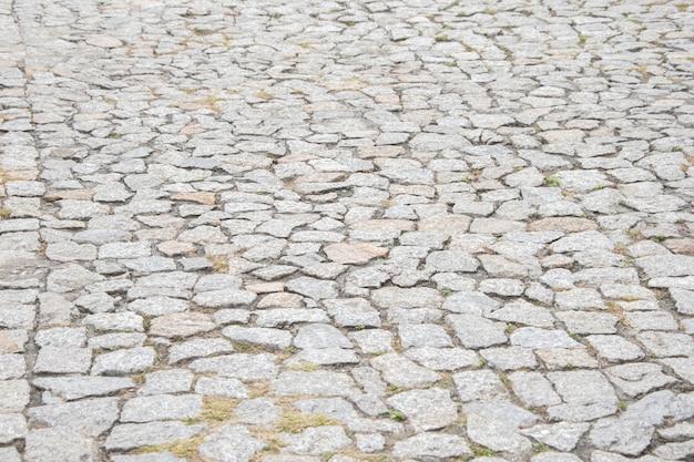 Texture de la chaussée en pierre Photo Premium