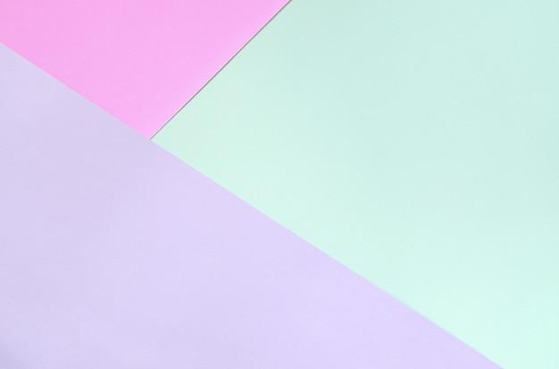 Texture des couleurs pastel de la mode. papiers à motifs géométriques roses, violets et bleus. Photo Premium