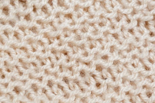 Texture De La Couverture Tricotée. Surface Textile Abstraite Photo Premium