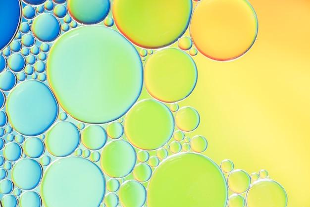 Texture de différentes bulles abstraites multicolores Photo gratuit