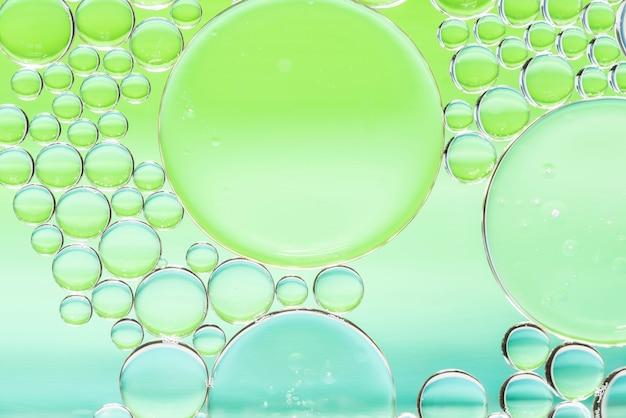 Texture de différentes bulles abstraites vertes et bleues Photo gratuit
