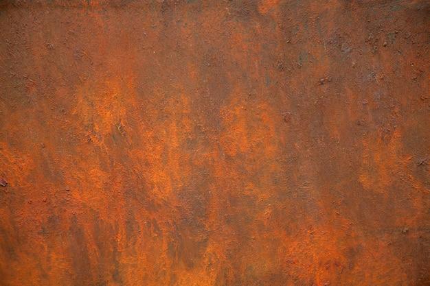 La texture du métal rouillé est marron et orange. Photo Premium