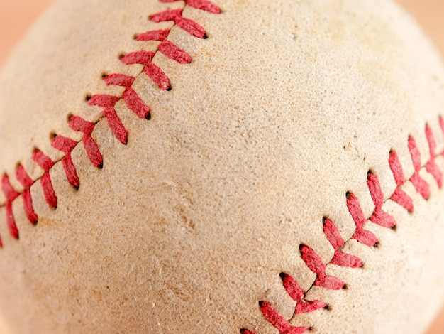 Texture de fond de baseball vieux équipements de sport Photo Premium