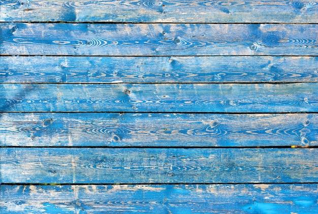 Texture de fond en bois peint bleu et turquoise vintage Photo Premium
