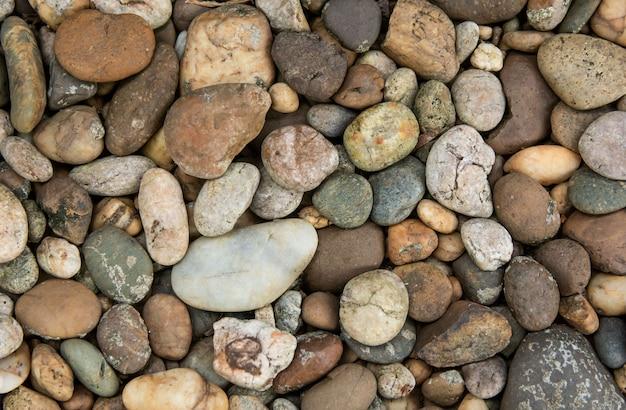 Texture et fond de pierres de galets Photo Premium