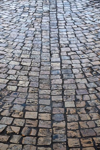 Texture de fond rue pavées Photo gratuit