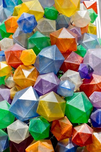 Texture De Fond Triangulaire Coloré. Photo D'une Décoration Colorée. Photo Premium