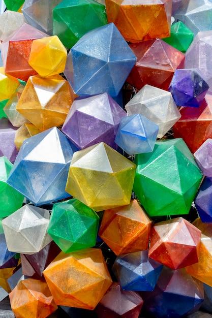Texture De Fond Triangulaire Coloré Photo Premium