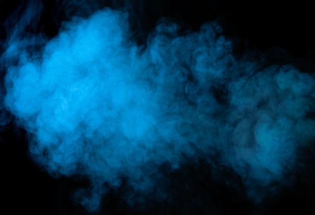 La Texture De La Fumée Sur Fond Noir Photo Premium