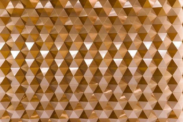 Texture géométrique 3d en cuivre Photo gratuit