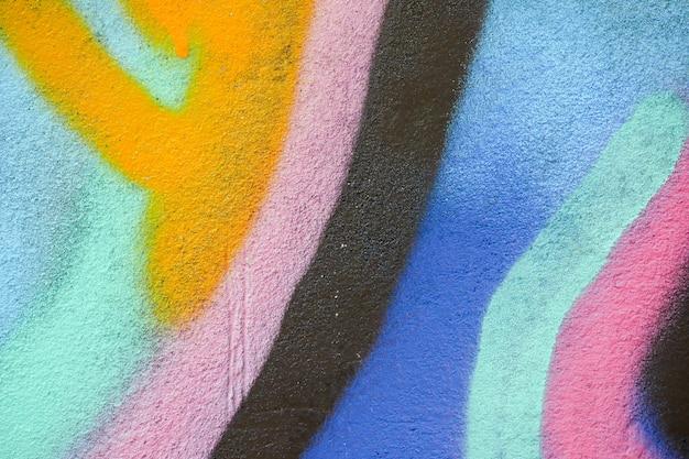 Texture De Graffiti Coloré Sur Le Mur Comme Toile De Fond Photo Premium