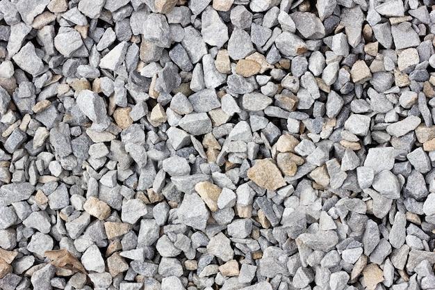 Texture de gros plan gros plan de pierre concassée. texture de pierre Photo Premium