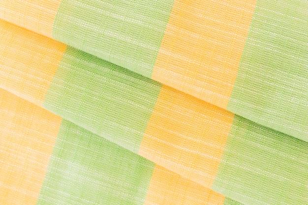Texture de lin en tissu naturel vert et jaune pour le design Photo gratuit
