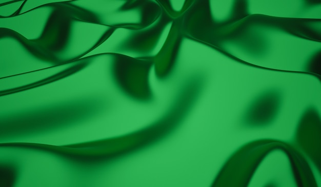 La Texture Lisse Et élégante De La Soie Verte Ou Du Satin Peut être Utilisée Comme Arrière-plan Photo Premium