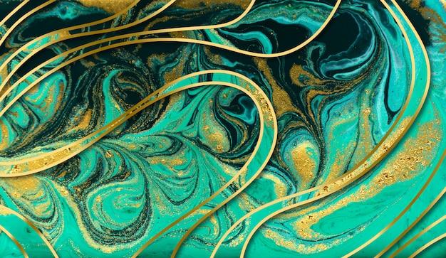 Texture de marbre vert Photo Premium