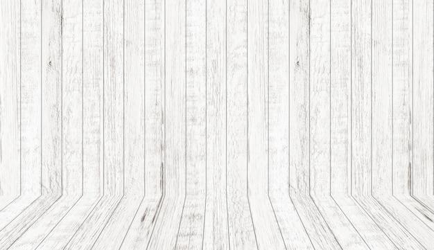 Texture de modèle en bois vintage en vue en perspective. fond de l'espace de la salle en bois vide. Photo Premium