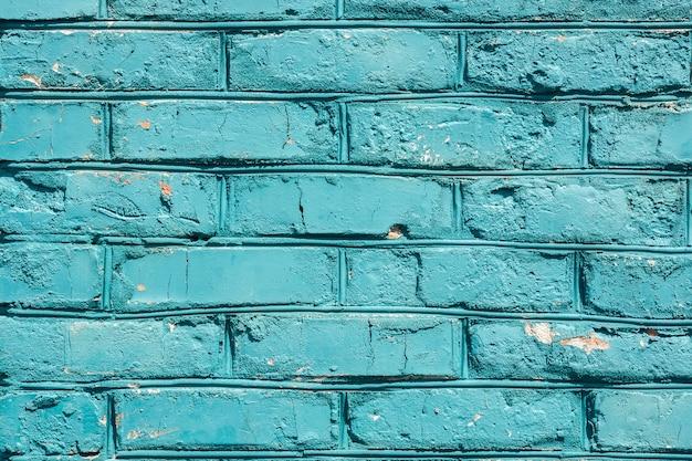 Texture de mur de brique bleue Photo Premium