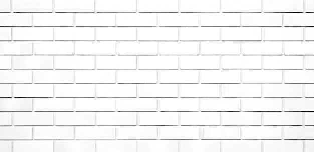 Texture de mur de briques blanches panorama et fond Photo Premium