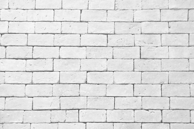 Texture de mur de briques blanches Photo Premium