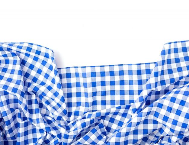 Texture de nappe bleue sur blanc Photo Premium