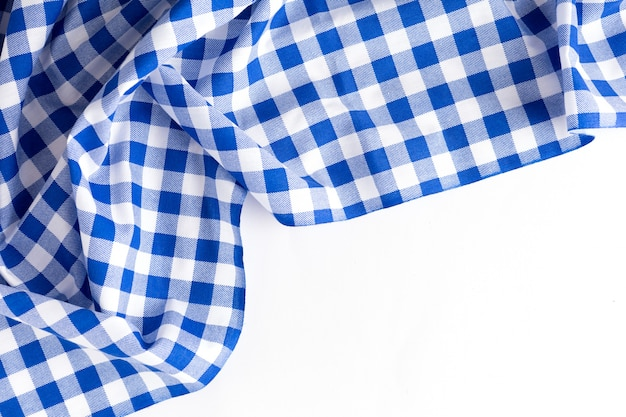 Texture de nappe bleue sur fond blanc Photo Premium