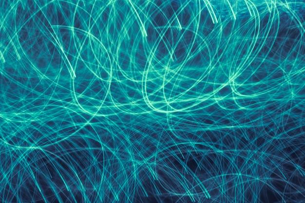 Texture de néons longue exposition dégradé bleu et vert Photo gratuit
