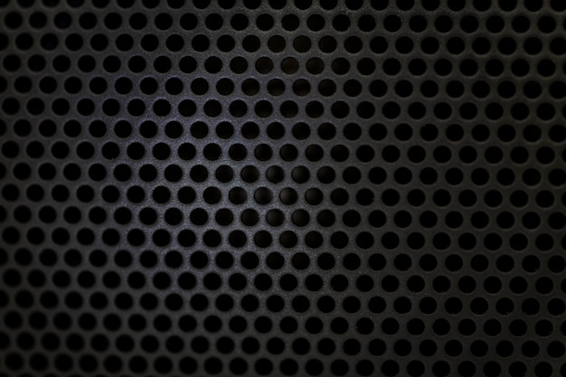 Texture noire haut-parleur bluetooth Photo Premium