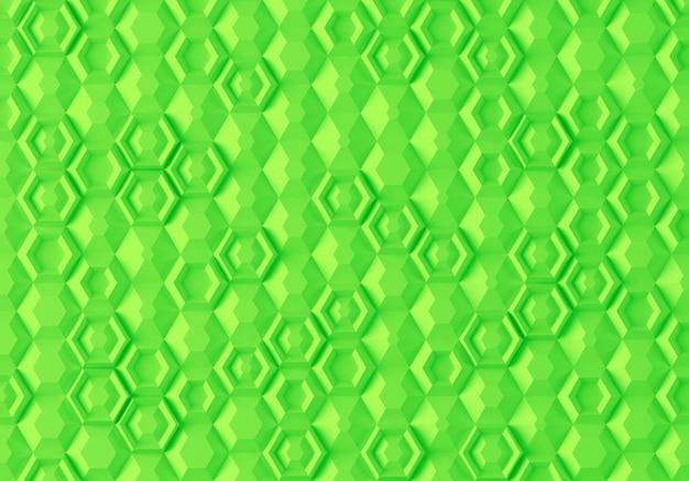 Texture numérique paramétrique abstraite basée sur une grille hexagonale avec différents volumes et motifs internes Photo Premium