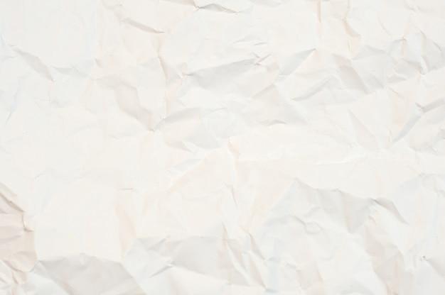 Texture De Papier Blanc Froissé. Fond Blanc Photo Premium