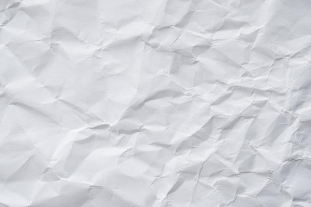 Texture De Papier Froissé Blanc Abstrait Photo Premium