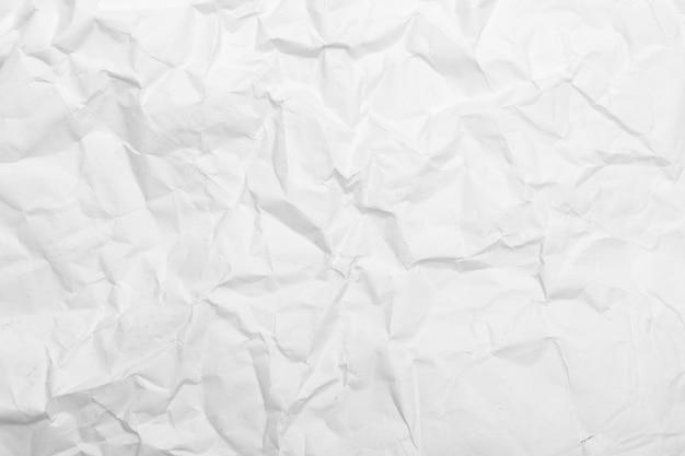 Texture De Papier Froissé Blanc. Photo Premium