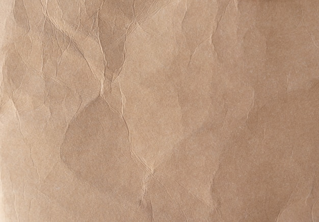 Texture De Papier Froissé Marron Photo Premium
