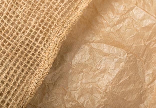 Texture De Papier Kraft Froissé Photo Premium