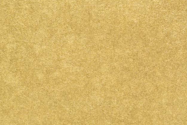 Texture De Papier Or. Abstrait De Feuille D'or Mat Lisse. Fermer. Photo Premium