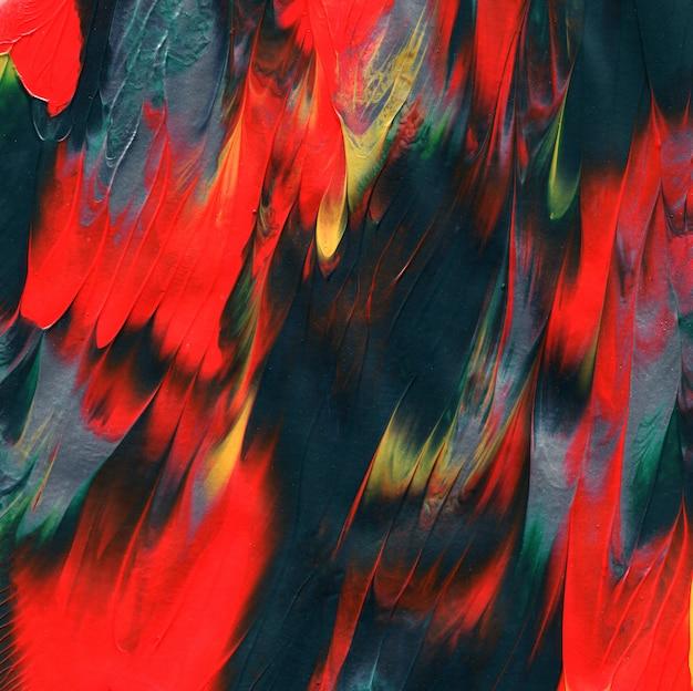 Texture de la peinture acrylique. fond peint à la main d'empâtement unique. Photo Premium
