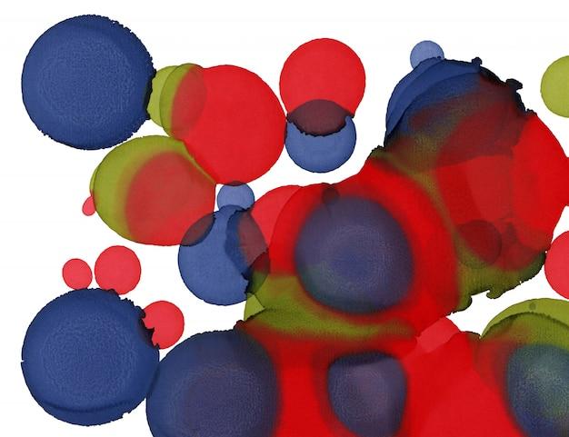 Texture de peinture à la main. fond de formes abstraites de cercles. peinture abstraite à l'alcool. art contemporain moderne Photo Premium