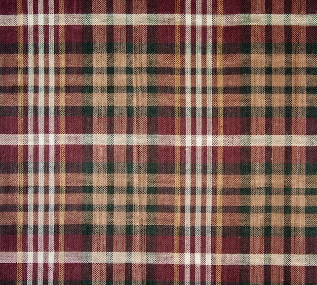 Texture de plaid en tissu. fond de tissu Photo Premium