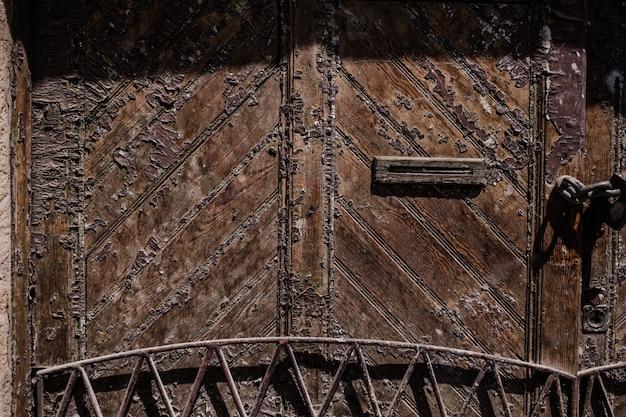 Texture De Porte Ancienne En Bois Photo gratuit