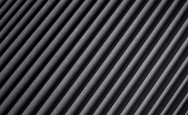 Texture Rayée Noire, Fond Métallique Nervuré Foncé Photo Premium