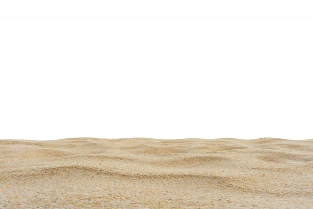 Texture de sable de plage sur blanc. Photo Premium