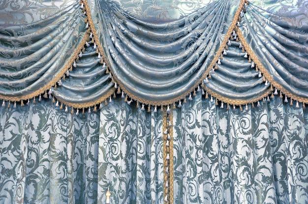 Texture De Tissu Textile De Rideau De Luxe Pour La Décoration Photo Premium