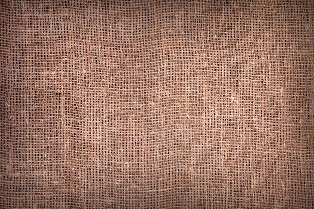 Texture de toile de jute foncé Photo Premium