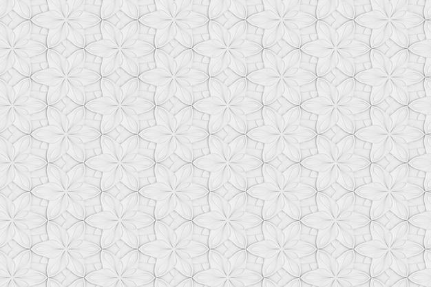 Texture Transparente De L'illustration 3d De Volume De Fleur Hexagonale Blanche Photo Premium