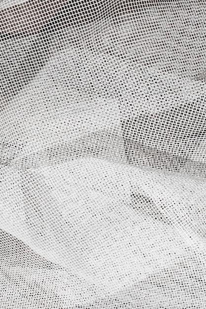 Texture de tulle blanc se bouchent Photo Premium