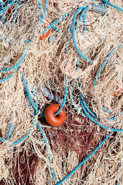 Textures de filet de pêche de la méditerranée Photo Premium