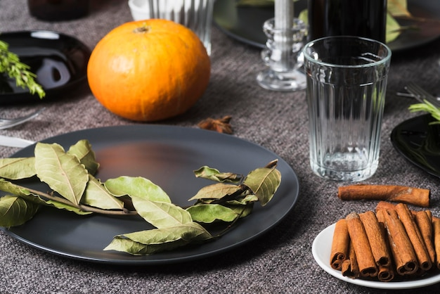 Thanksgiving Recettes Ingrédients High Angle Photo gratuit