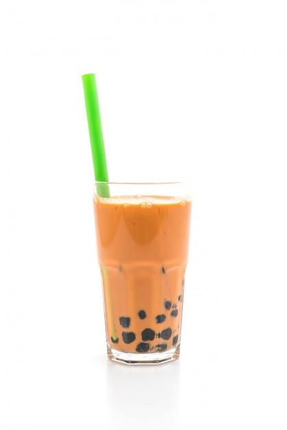 Thé au lait thaï avec bulle Photo Premium