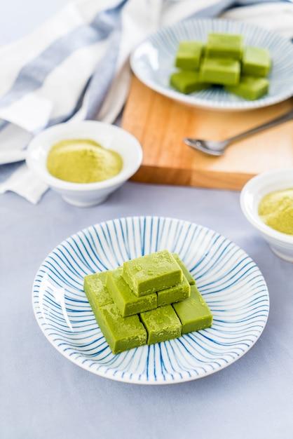 Thé vert au chocolat doux Photo Premium