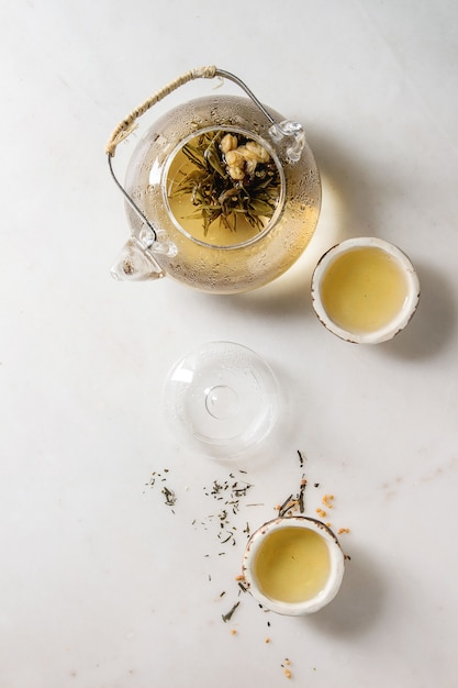 Thé vert chaud Photo Premium